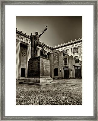 Tennessee War Memorial Black And White Framed Print by Joshua House