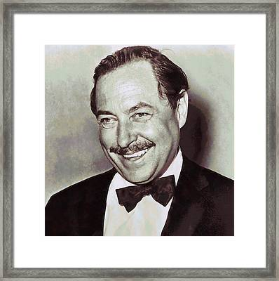 Tennessee Williams Framed Print by Dan Sproul