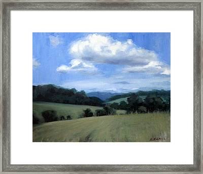 Tennessee's Rolling Hills And Clouds Framed Print by Erin Rickelton
