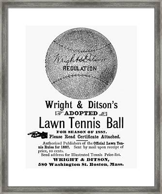 Tennis Ball, 1887 Framed Print by Granger