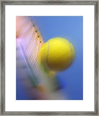 Tennis Ball And Racquet Framed Print