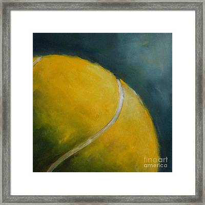 Tennis Ball Framed Print by Kristine Kainer