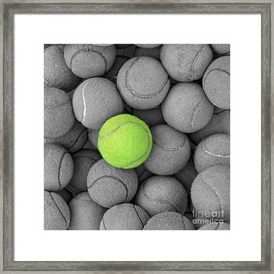 Tennis Balls Background Texture Framed Print by Phaitoon Sutunyawatcahi