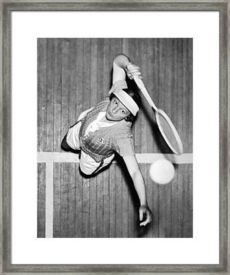 Tennis Champ Sylvia Henrotin Framed Print by Underwood Archives