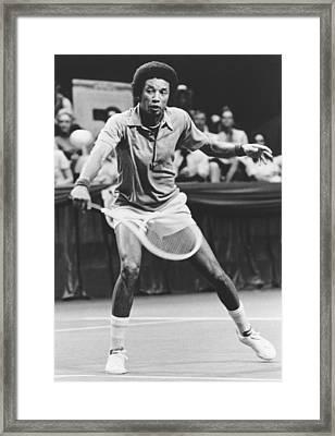 Tennis Champion Arthur Ashe Framed Print by Underwood Archives