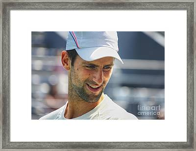 Tennis Champion Novak Djokovic Framed Print by Nishanth Gopinathan