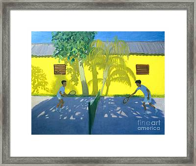 Tennis  Cuba Framed Print by Andrew Macara