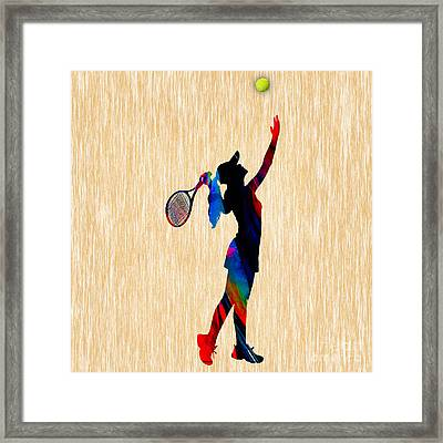 Tennis Game Framed Print by Marvin Blaine