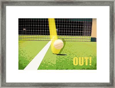 Tennis Hawkeye Out Framed Print