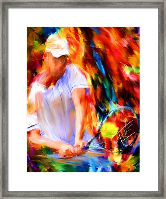 Tennis II Framed Print