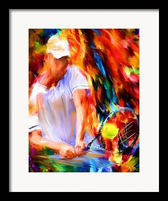 Racket Framed Prints