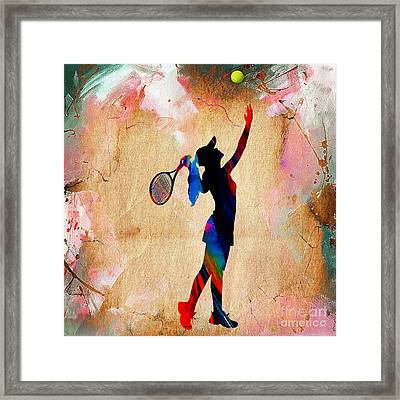 Tennis Match Framed Print