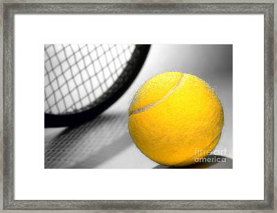 Tennis Framed Print by Olivier Le Queinec