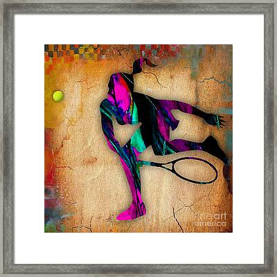 Tennis Painting Framed Print by Marvin Blaine