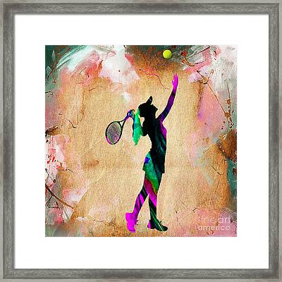 Tennis Player Framed Print by Marvin Blaine
