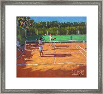 Tennis Practice Framed Print by Andrew Macara