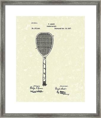 Tennis Racket 1887 Patent Art Framed Print