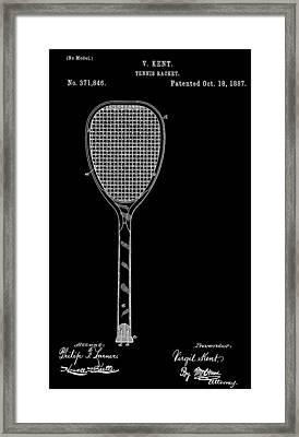 Tennis Racket Framed Print by Dan Sproul