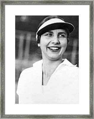 Tennis Star Helen Wills Framed Print by Underwood Archives
