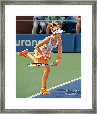 Tennis Star Laura Robson Framed Print by Harold Bonacquist
