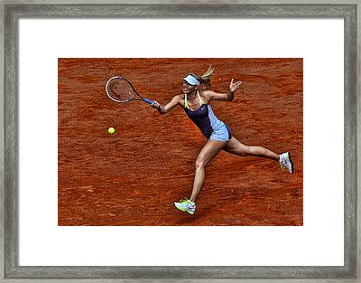 Tennis Star Maria Sharapova Framed Print