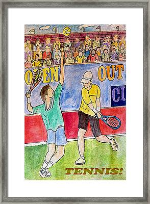 Tennis Strokes Framed Print by Monica Engeler
