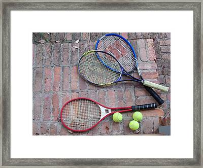 Tennis Time Framed Print by Annette Allman