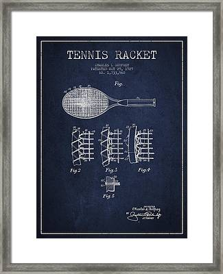 Tennnis Racket Patent Drawing From 1929 Framed Print
