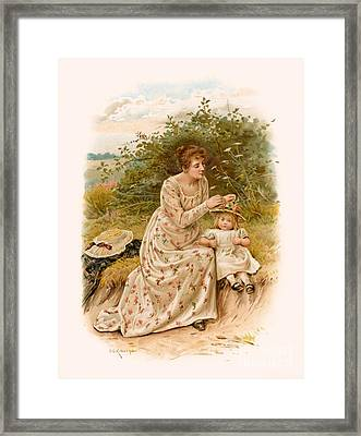 Tennyson S Dora Framed Print by George Goodwin Kilburne