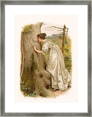 Tennyson S Olivia Framed Print by George Goodwin Kilburne