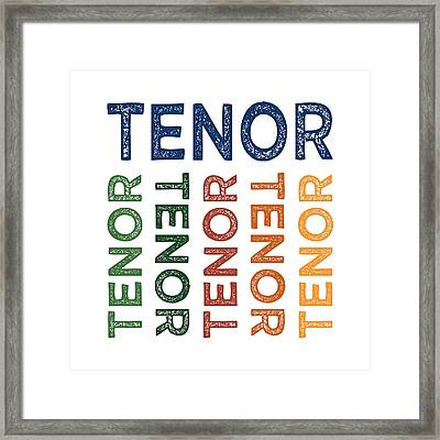 Tenor Cute Colorful Framed Print by Flo Karp