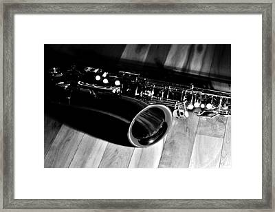 Tenor Sax Framed Print by Benjamin Yeager