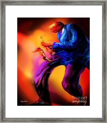 Tenors Groove Framed Print
