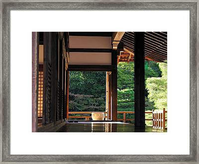 Framed Print featuring the photograph Tenryui-ji - Temple - Kyoto by Jacqueline M Lewis