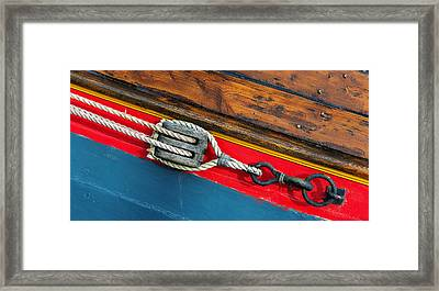 Tension On The Sailing Vessel Framed Print