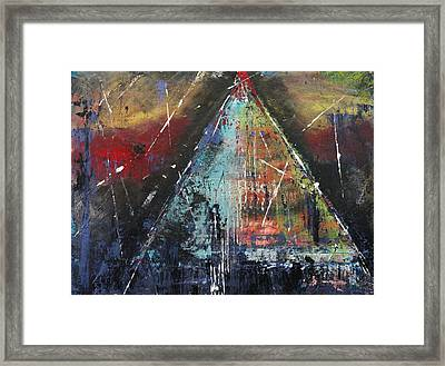 Tent-ative Framed Print