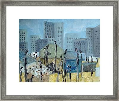 Tent City Homeless Framed Print