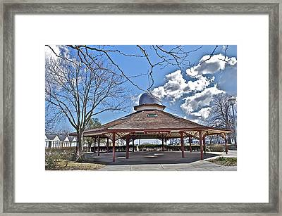 Tent Houses In Ocean Grove Framed Print by Joe  Burns