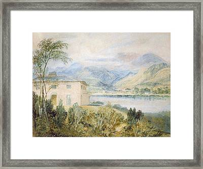 Tent Lodge, By Coniston Water, 1818 Framed Print