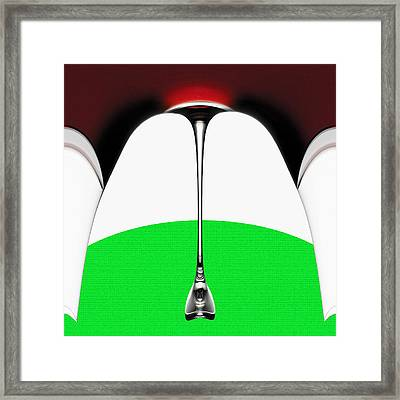 Tent On Green Framed Print by Bruce Iorio