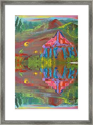 Tent Reflections Framed Print by Deborah Montana