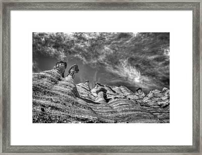 Tent Rocks No. 1 Bw Framed Print