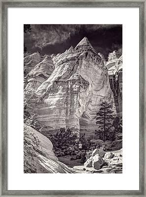 Tent Rocks No. 2 Bw Framed Print