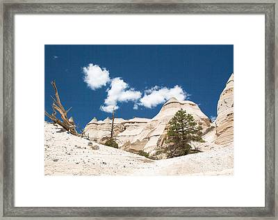 Framed Print featuring the photograph High Noon At Tent Rocks by Roselynne Broussard