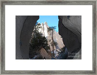 Tent Rocks Framed Print