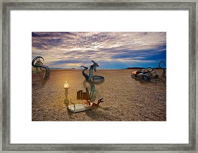 Tentacle Story Framed Print by Becca Buecher