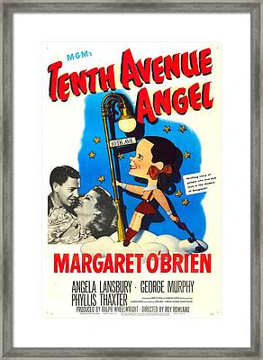 Tenth Avenue Angel, Us Poster Framed Print by Everett