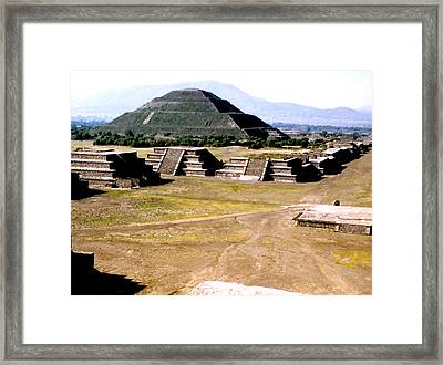 Teotihuacan - Pyramid Of The Sun Framed Print
