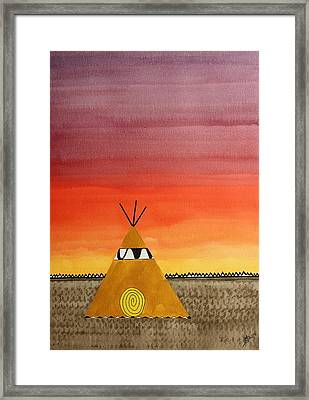 Tepee Or Not Tepee Original Painting Framed Print