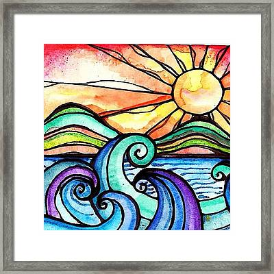 Tequila Sunrise #aceo #artcard #art Framed Print by Robin Mead